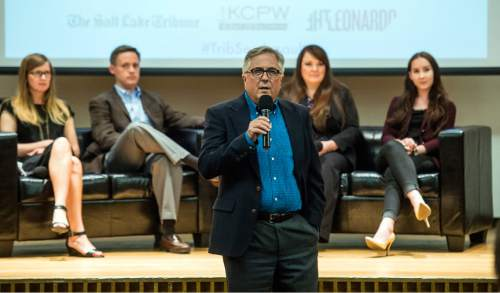 Chris Detrick     Tribune file photo Former Salt Lake Tribune Editor Terry Orme speaks during a town hall discussion 'Confronting Rape Culture on Utah Campuses' at The Leonardo Thursday June 30, 2016. New Owner Paul Huntsman has replaced Orme with former reporter Jennifer Napier-Pearce.