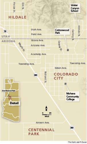 Colorado City Utah Map.Polygamous Towns Gradually Becoming Conventional American Community