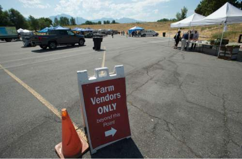 Steve Griffin / The Salt Lake Tribune  The Farmers Market in Murray Park opened for its 35th season in Murray Friday July 29, 2016, making it Utah's oldest farmers market.  All but 14 of the 70 vendors grow their own produce.