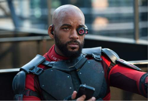 """This image released by Warner Bros. Pictures shows Will Smith in a scene from, """"Suicide Squad."""" (Clay Enos/Warner Bros. Pictures via AP)"""