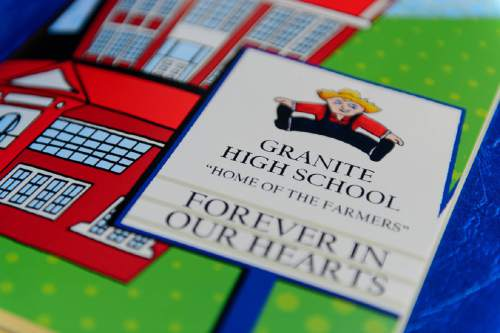 Trent Nelson  |  The Salt Lake Tribune The cover of the program at the Granite High School reunion in Salt Lake City, Saturday August 6, 2016. This was an unusual high school reunion -- for all alumni of all graduating classes for the school that was open from 1906 to 2009.