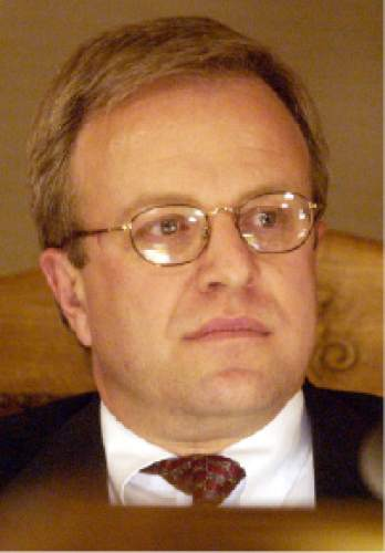 Trent Nelson  |  The Salt Lake Tribune  Eric Jergensen during the Salt Lake City council meeting on December 3, 2002.