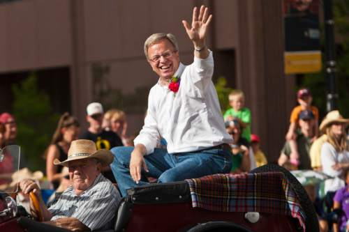 Chris Detrick  |  The Salt Lake Tribune  Eric Jergensen participates in the 163rd annual Days of '47 KSL 5 Parade on Tuesday July 24, 2012.