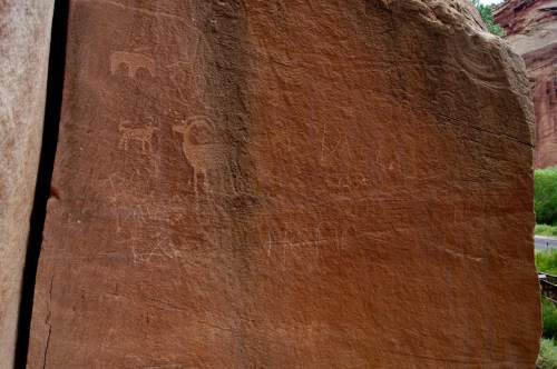 Courtesy  |  Capitol Reef National Park  Instances of graffiti are on the rise, according to officials at Capitol Reef National Park.