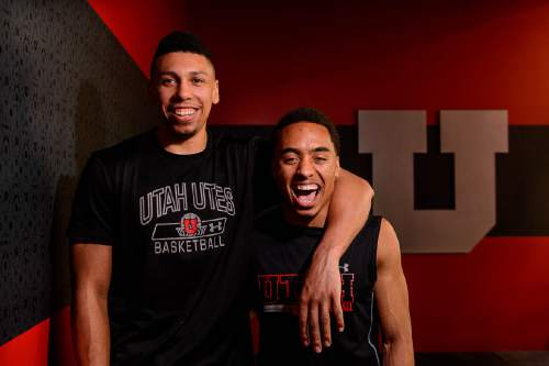 Trent Nelson  |  The Salt Lake Tribune Jordan Loveridge and Brandon Taylor will be honored on Saturday's Utah Senior Night. They came when there wasn't much going for Larry Krystkowiak or his program, and helped turn things around in a big way. Thursday March 3, 2016.