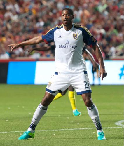 Michael Mangum  |  Special to the Tribune  Real Salt Lake defender Chris Schuler (28) defends inside the box during their international friendly against Inter Milan at Rio Tinto Stadium in Sandy, Utah on Tuesday, July 19th, 2016. Inter won on a last second goal 2-1.
