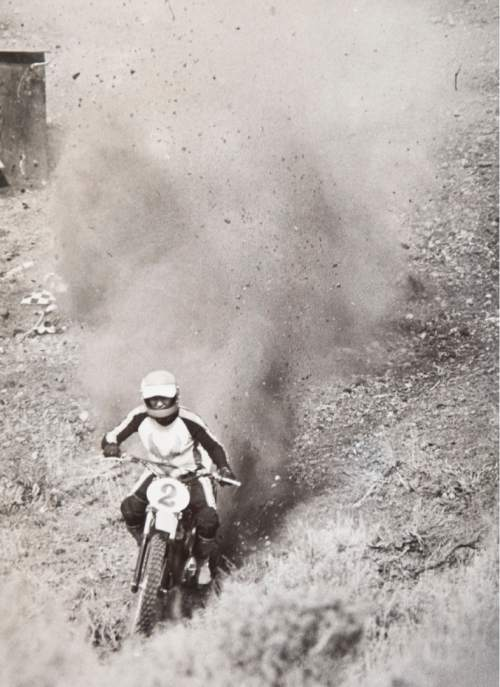 Tribune file photo  A rider climbs the hill during a Widow Maker event in 1982.