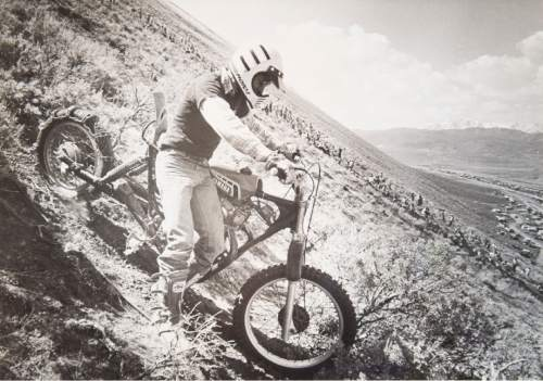 Tribune file photo  A rider carefully makes his way down the hill during a Widow Maker event in 1982.