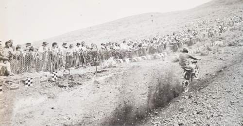 Tribune file photo  Spectators watch a rider start up the hill during a Widow Maker event in 1982.