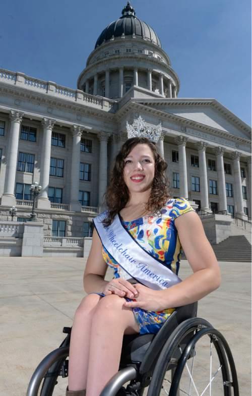 Al Hartmann  |  The Salt Lake Tribune  Ms. Wheelchair Utah, Eliza McIntosh was just crowneed Ms. Wheelchair America.