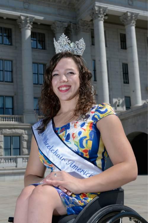 Al Hartmann  |  The Salt Lake Tribune  Ms. Wheelchair Utah, Eliza McIntosh was just crowned Ms. Wheelchair America.