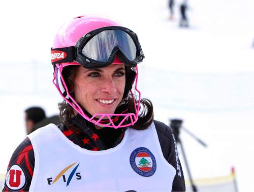 ADVANCE FOR WEEKEND EDITIONS, MARCH 17-18 - In this Friday, March 8, 2013 photo, Chirine Njeim, a three-time Olympic skier from Lebanon, is interviewed at the ski resort of Faraya, northeast of Beirut, Lebanon. Skiing isnít in the list of things that usually come to mind when one tries to paint a picture of life in Lebanon, a tiny Arab country on the Mediterranean. The long civil war tends to dominate the western perception of the place, not skiers racing down the Faraya-Mzaar mountains, just an hour away from the capital.  (AP Photo/Bilal Hussein)