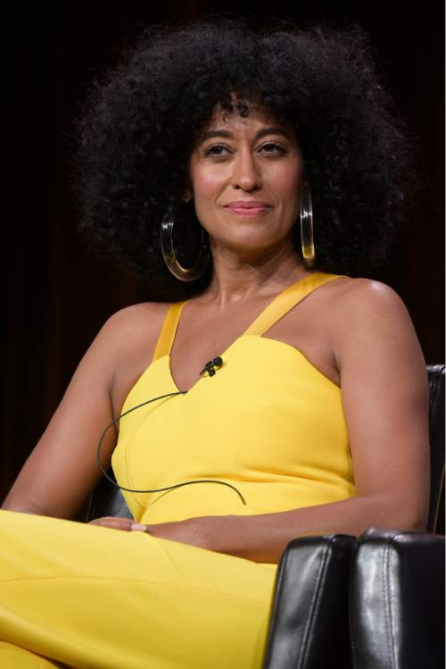 "Tracee Ellis Ross participates in the ""Black-ish'"" panel during the Disney/ABC Television Critics Association summer press tour on Thursday, Aug. 4, 2016, in Beverly Hills, Calif. (Photo by Richard Shotwell/Invision/AP)"