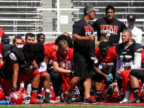 Trent Nelson  |  The Salt Lake Tribune  The Utes go through their second fall scrimmage to solidify a handful of position battles.  INFORMATION-> Relevant position battles: • Offensive tackle (Garett Bolles, Sam Tevi, Jackson Barton) • Tight end (Harrison Handley, Evan Moeai) • Receiver (Tyrone Smith, Caleb Repp, Raelon Singleton) • Linebacker (Cody Barton, Kavika Luafatasaga)  , Tuesday August 16, 2016.