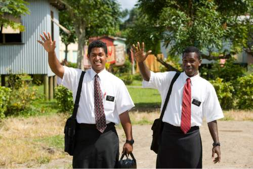 | Courtesy The Church of Jesus Christ of Latter-day Saints Fijian Missionaries