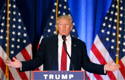 FILE - In this Monday, Aug. 15, 2016, file photo, Republican presidential candidate Donald Trump speaks in Youngstown, Ohio. Trump is again calling for the U.S. and its allies to immediately cut off the internet access of the Islamic State group and other extremist organizations. But from a technical standpoint, the U.S. still can't just turn off the internet in other parts of the world. And even if it could, such a move would likely hurt more than potential attackers, and it would hinder the government's ability to keep tabs on them. (AP Photo/Gerald Herbert, File)