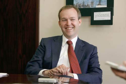 Scott Sommerdorf   |  The Salt Lake Tribune Salt Lake County Mayor Ben McAdams during an interview in his office, Wednesday, April 17, 2013. McAdams proposed a $1.1 billion budget for 2015 on Oct. 28, 2014.