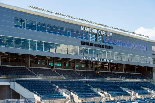 Chris Detrick  |  The Salt Lake Tribune Maverik Stadium at Utah State University Wednesday August 17, 2016.