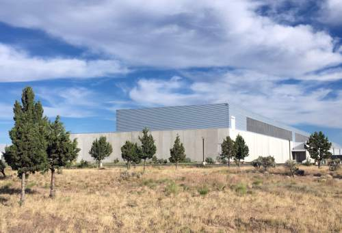 In this July 1, 2016 photo, the Facebook Data Center is seen in Prineville, Ore. When timber was king, Crook County was the nation's top producer of ponderosa lumber. But with the catastrophic decline in the timber industry, and the global recession after that, suddenly the digital revolution is providing the county and its main town, Prineville, with a rare second chance. (AP Photo/Andrew Selsky)