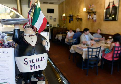 Al Hartmann  |  The Salt Lake Tribune  Authentic Sicilian and Italian pastas and desserts are the star dishes at Sicilia Mia in Millcreek.