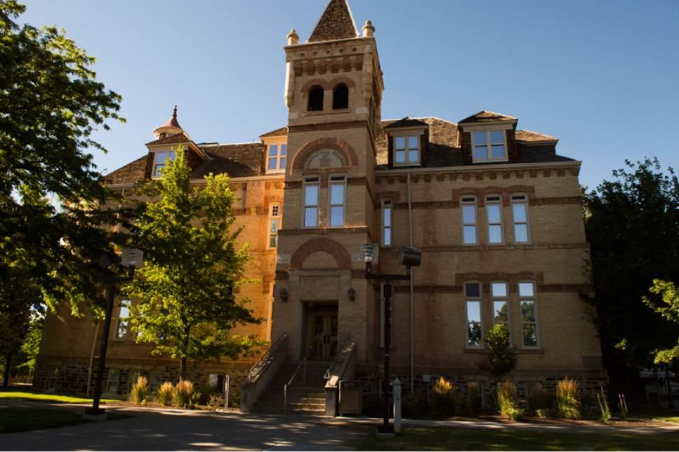Leah Hogsten  |  The Salt Lake Tribune Utah State University Old Main Building, Friday, July 22, 2016.
