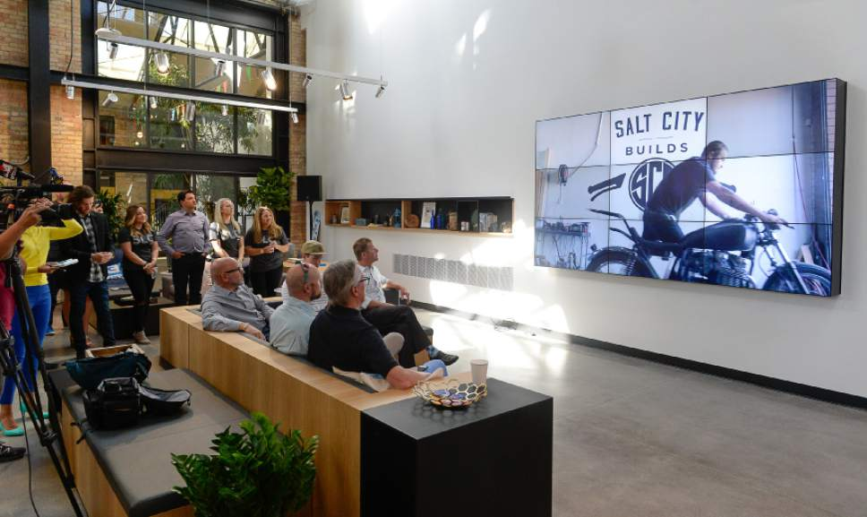 Francisco Kjolseth | The Salt Lake Tribune People get a taste of Google Fiber operations in Utah, as they announce the official launch of its high-speed internet service at their offices in Trolley Square, referred to as Fiber Space, on Wednesday, Aug. 23, 2016.