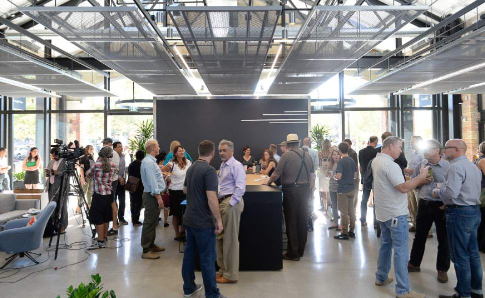 Francisco Kjolseth | The Salt Lake Tribune Salt Lake City sees the beginnings of Google Fiber's scorching-fast gigabit service during a grand opening-type event at their offices in Trolley Square, referred to as Google Space on Wednesday, Aug. 23, 2016.