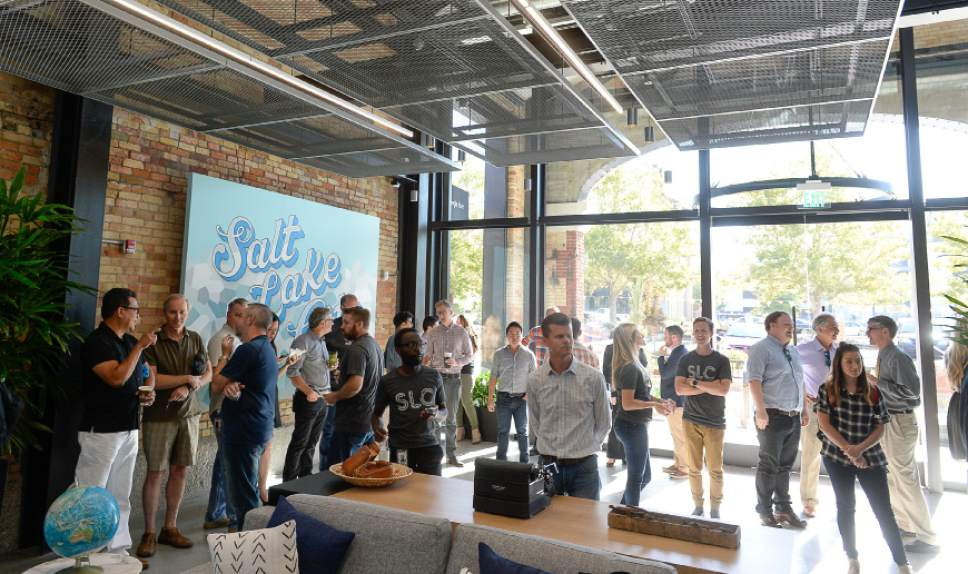 Francisco Kjolseth | The Salt Lake Tribune Salt Lake City sees the beginnings of Google Fiber's scorching-fast gigabit service during a grand opening-type event at their offices in Trolley Square, referred to as Fiber Space, on Wednesday, Aug. 23, 2016.