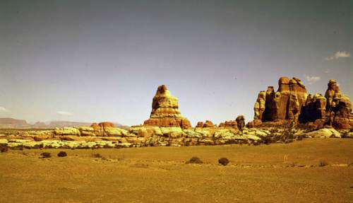 Chesler Park in Canyonlands National Park. 1950s