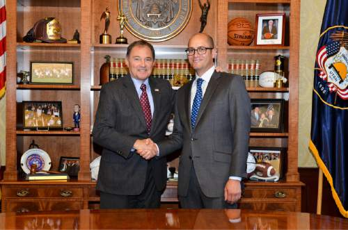 |  Courtesy governor's office  Gov. Gary Herbert on Friday August 26, 2016 appointed Republican Daniel Hemmert to the Utah Senate to replace Sen. Alvin Jackson.