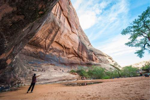 The Moab Music Festival returns for its 24th season Sept. 1-12 with a host of concerts, from Schubert and the Beatles to the sounds of Latin America, set against the southern Utah landscape. Pictured, the 2015 Middle Earth hike. Richard Bowditch  |  Courtesy