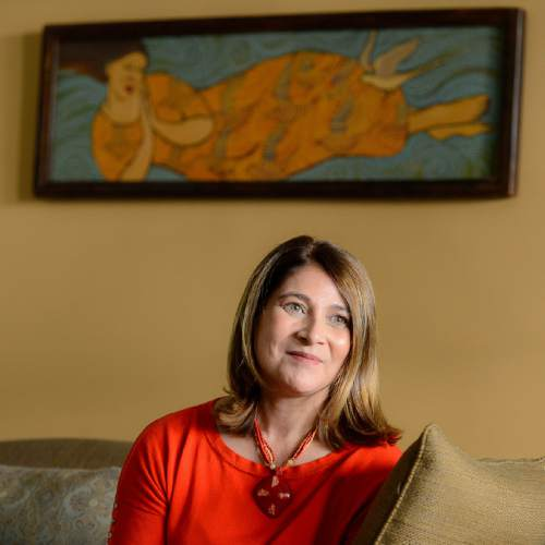Trent Nelson  |  The Salt Lake Tribune Jennifer Napier-Pearce has been named the new editor of The Salt Lake Tribune. She was photographed at her home in Salt Lake City, Thursday August 11, 2016.