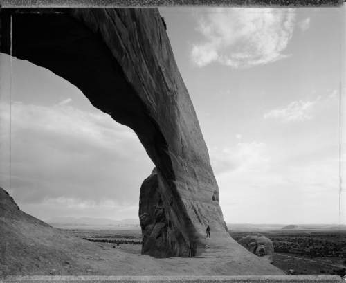 """Great Arch by Mark Klett,  included in """"The Hour of Land: A Personal Topography of America's National Parks"""" by Terry Tempest Williams. Courtesy  