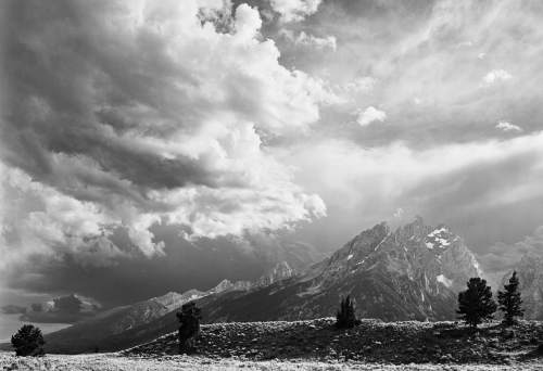 """Clearing storm and cathedral group, Grand Teton National Park by Edward A. Riddell,  included in """"The Hour of Land: A Personal Topography of America's National Parks"""" by Terry Tempest Williams. Courtesy  