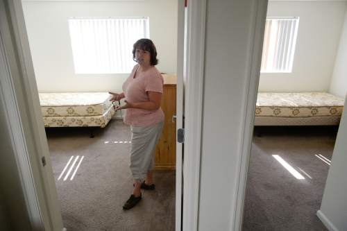 Francisco Kjolseth | The Salt Lake Tribune Dawn Anderson, Property Manager for a housing project in Midvale which operates a multi-faceted program for single homeless parents, includes day-care facilities and lodgings with 54 units.