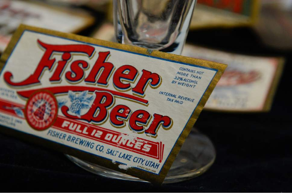 Francisco Kjolseth | The Salt Lake Tribune Fisher Brewing Co., one of two Utah breweries to have survived Prohibition before disappearing in the 1960s. At Ken Sanders Rare Books some of the memorabilia still exists.