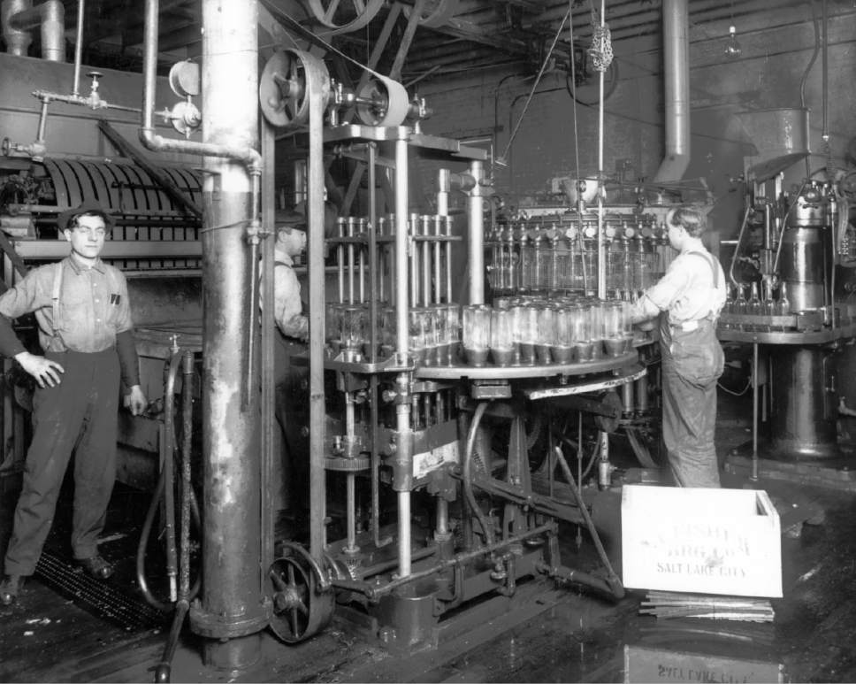 By 1900, the A. Fisher Brewing Company was bottling its lager beer at its brewery on 200 South on the east bank of the Jordan River. Courtesy  |  Utah Historical Society