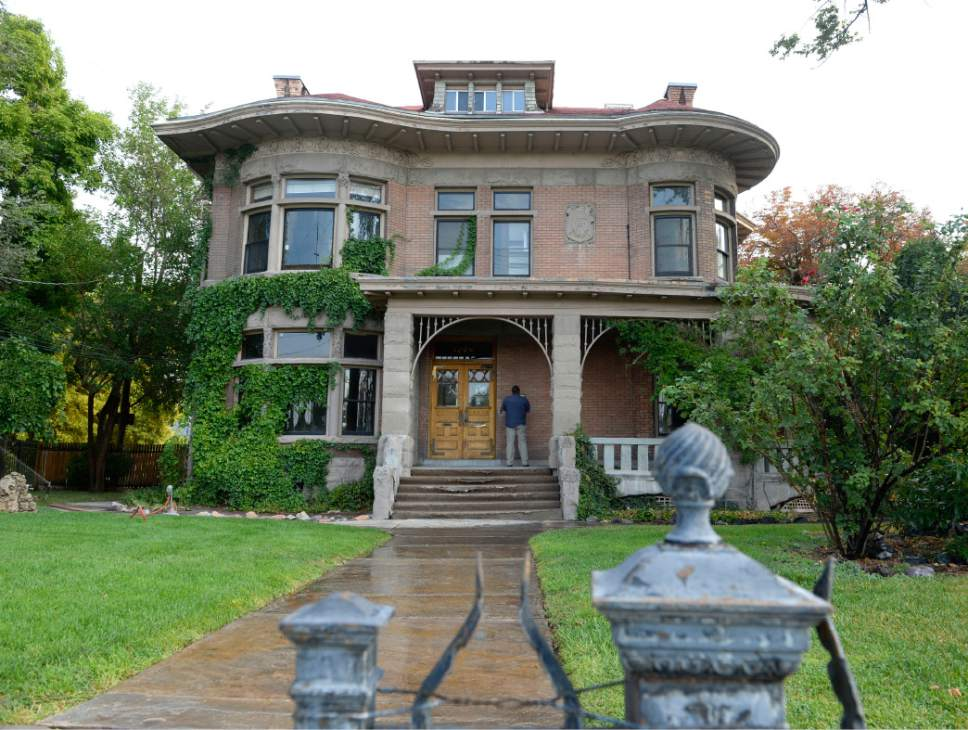 Al Hartmann  |  The Salt Lake Tribune  The original Fisher mansion is still standing on the Jordan River along 200 South in Salt Lake City.  The brewing buildings behind it are long gone.  The A. Fisher Brewing Co., first opened in 1884 by Albert Fisher.