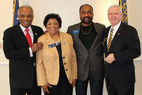 Congressman David Scott, Senator Gail Davenport, Senator Michael Rhett & Bob Houghton