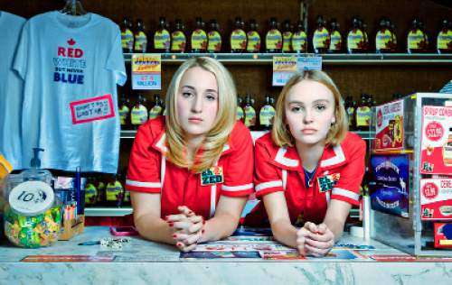 "Harley Quinn Smith (left) and Lily-Rose Depp plays Colleen and Colleen, yoga-obsessed convenience-store clerks in Winnipeg, in Kevin Smith's comedy ""Yoga Hosers."" Courtesy Invincible Pictures"