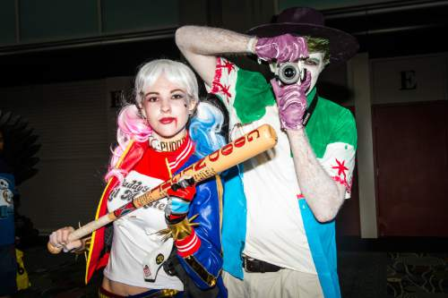 Chris Detrick     The Salt Lake Tribune Seth and Nadia Turek, of Provo, pose for a portrait as Harley Quinn and Joker during Salt Lake Comic Con at the Salt Palace Convention Center Saturday September 3, 2016.