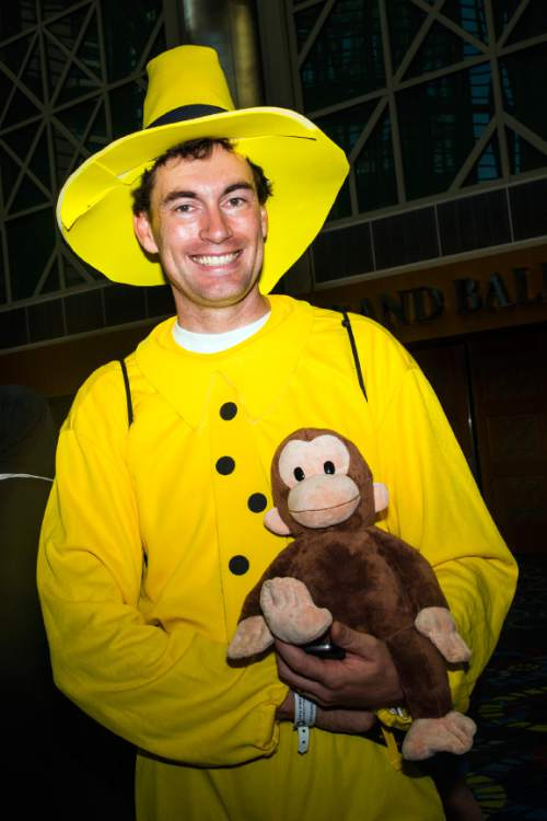 Chris Detrick     The Salt Lake Tribune Ryan Dowdle, of Clearfield, poses for a portrait as Man with the Yellow Hat during Salt Lake Comic Con at the Salt Palace Convention Center Saturday September 3, 2016.