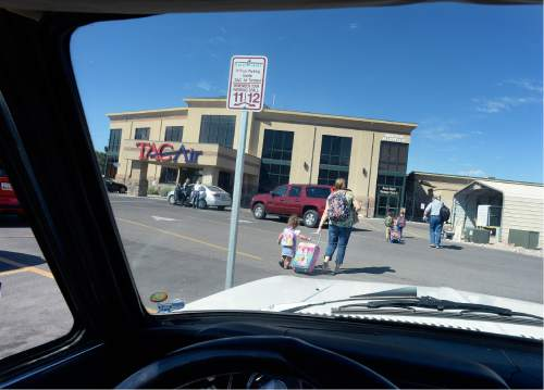 Scott Sommerdorf   |  The Salt Lake Tribune   This is how close you can park before the 50 yard walk to the terminal for an Allegiant Air flight out of Provo, Wednesday morning, August 31, 2016.
