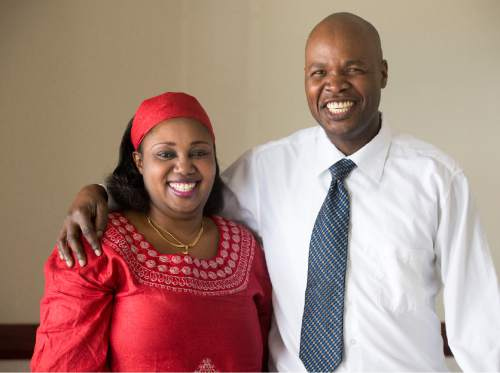 Rick Egan  |  The Salt Lake Tribune  Rukundo Chantal and Wingi Kuza are new to the Parleys Creek Swahili LDS Branch on Sunday, June 12, 2016.