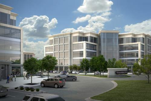 | Courtesy photo  Artists renderings of a new office building being built at Thanksgiving Point in Lehi.