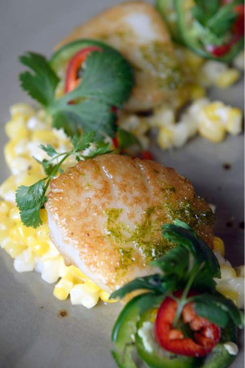Al Hartmann     The Salt Lake Tribune Executive chef Ryker Brown shares a recipe for seared scallops with raw honey and cilantro lime dressing.