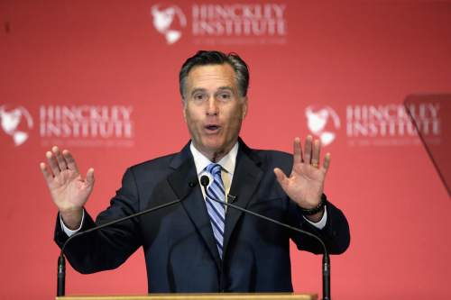 Rick Bowmer  |  AP file photo 2012 Republican presidential candidate Mitt Romney tweeted that former Republican governors and now Libertarian candidates Gary Johnson and William Weld should be included in the presidential debates.