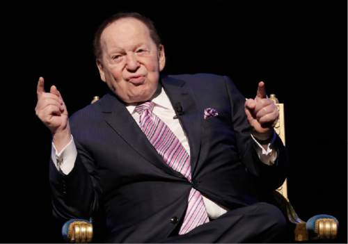 U.S. billionaire Sheldon Adelson speaks during a press conference for the opening of Parisian Macao in Macau, Tuesday, Sept. 13, 2016. Adelson was set to throw open the doors Tuesday to the French-themed Parisian Macao, the mogul's fifth property in the former Portuguese colony. (AP Photo/Kin Cheung)