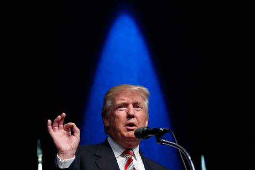 Republican presidential candidate Donald Trump speaks during a campaign rally, Tuesday, Sept. 13, 2016, in Clive, Iowa. (AP Photo/Evan Vucci)