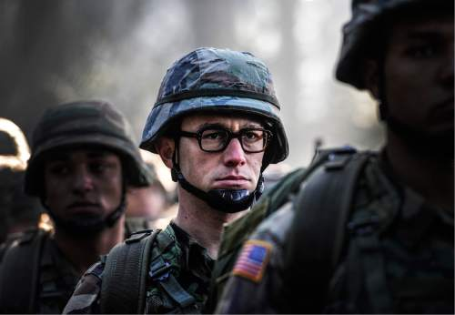 """This image released by Open Road shows Joseph Gordon-Levitt in a scene from, """"Snowden."""" (Open Road Films via AP)"""